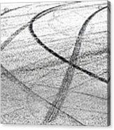Tyre Tracks Acrylic Print