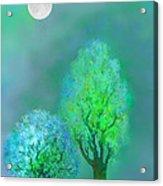 unbordered DREAM TREES AT TWILIGHT Acrylic Print