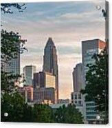 Uptown Charlotte North Carolina Cityscape Acrylic Print