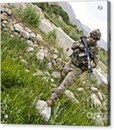 U.s. Army Specialist Walks Acrylic Print