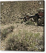 U.s. Soldiers Provide Security Acrylic Print