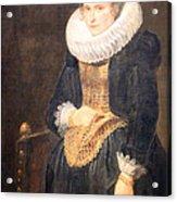Van Dyck's Portrait Of A Flemish Lady Acrylic Print