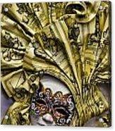 Venetian Carnaval Mask Acrylic Print