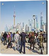 View Of Pudong In Shanghai China Acrylic Print