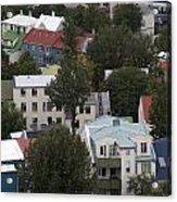View Of Reykjavik Iceland Acrylic Print