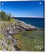 View Of Rock Harbor And Lake Superior Isle Royale National Park Acrylic Print