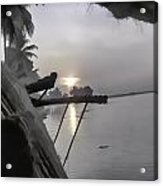 View Of Sunrise From Boat Acrylic Print