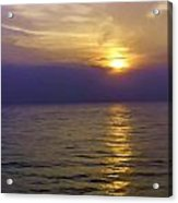 View Of Sunset Through Clouds Acrylic Print
