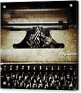 Vintage Olympia Typewriter Acrylic Print