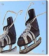 Vintage Pair Of Mens  Skates  Acrylic Print by Mikhail Olykaynen