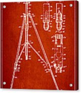 Vintage Tripod Patent Drawing From 1941 Acrylic Print by Aged Pixel