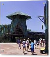 Visitors Heading Towards The Waterworld Attraction Acrylic Print