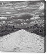 Wagon Wheel Road Bw Acrylic Print