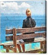 Sitting Alone Acrylic Print