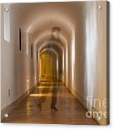 Walking In A Tunnel Acrylic Print