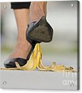 Walking On Banana Peel Acrylic Print