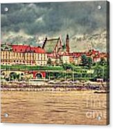 Warsaw View Of The Royal Castle Hdr Acrylic Print
