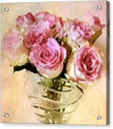 Watercolor Roses Acrylic Print