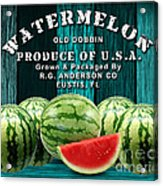 Watermelon Farm Acrylic Print