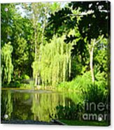 Weeping Willow Pond Acrylic Print