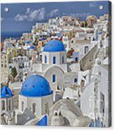 White Buildings With Steep Slope Acrylic Print