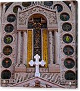 White Cross At St Sophia Acrylic Print