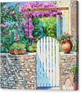 White Gate Acrylic Print