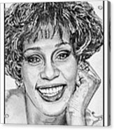 Whitney Houston In 1992 Acrylic Print