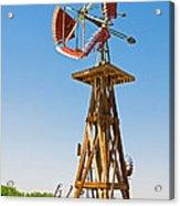 Wind Mills In West Texas Acrylic Print
