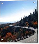 Winding Curve At Blue Ridge Parkway Acrylic Print