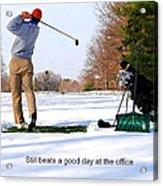 Winter Golf Acrylic Print