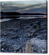 Winter Sunset On The Lake Acrylic Print
