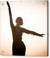 Woman Dancing At Sunrise Acrylic Print