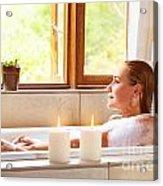 Woman Taking Bath Acrylic Print