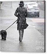 Woman Walking On The Street Acrylic Print