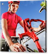 Women Cyclists Acrylic Print