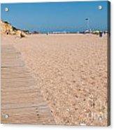 Wooden Walkway On Beach Acrylic Print