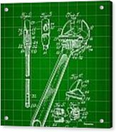 Wrench Patent 1915 - Green Acrylic Print