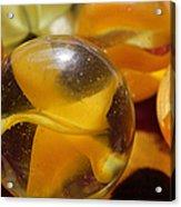 Yellow Marbles Acrylic Print