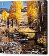 Yellowstone Institute In Lamar Valley In Yellowstone National Park Acrylic Print