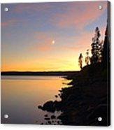 Yellowstone Lake Sunset Acrylic Print