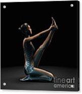 Yoga Heron Pose Acrylic Print