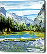 Yoho Valley Acrylic Print by David Skrypnyk