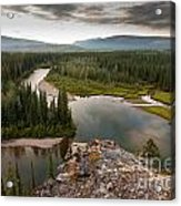 Yukon Canada Taiga Wilderness And Mcquesten River Acrylic Print