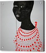 Dinka Bride - South Sudan Acrylic Print