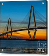 Arthur Ravenel Jr. Bridge At Sunset Acrylic Print
