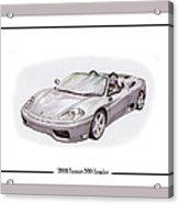 Ferrari 360 Modena Spyder Acrylic Print