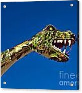 2015 Rose Parade Float Showing A Dragon 15rp040 Acrylic Print