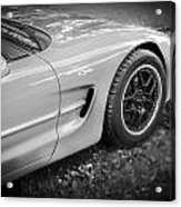 2002 Chevrolet Corvette Z06 Bw Acrylic Print