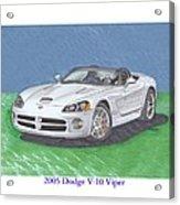2005 Dodge V-10 Viper Acrylic Print